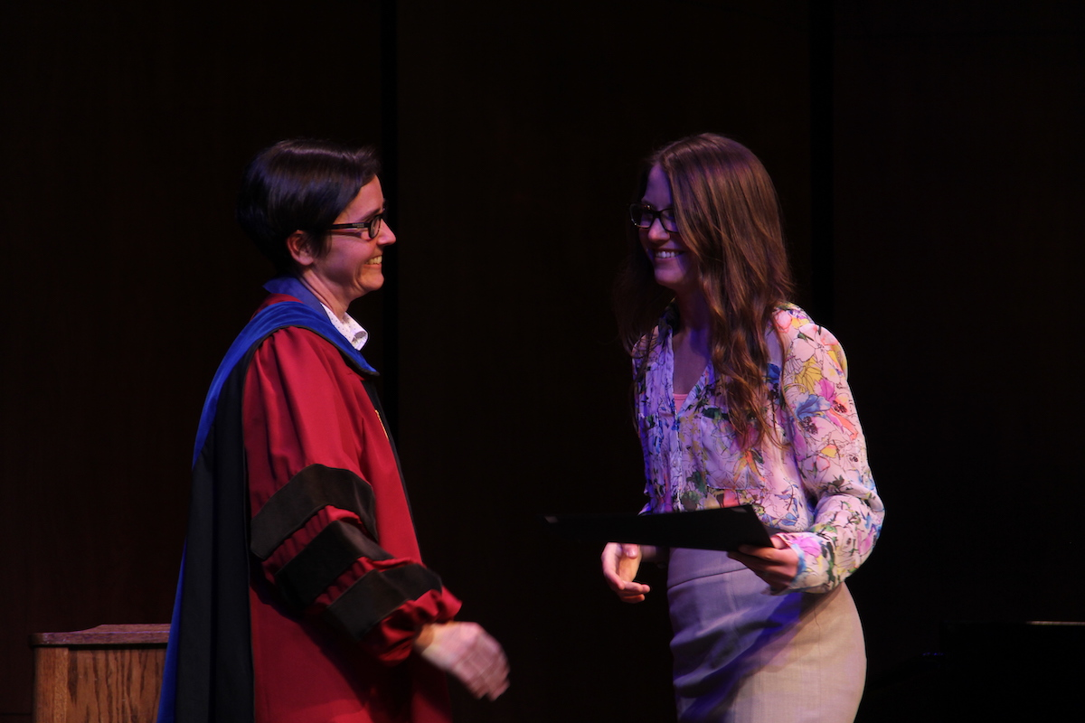 honors convocation award student