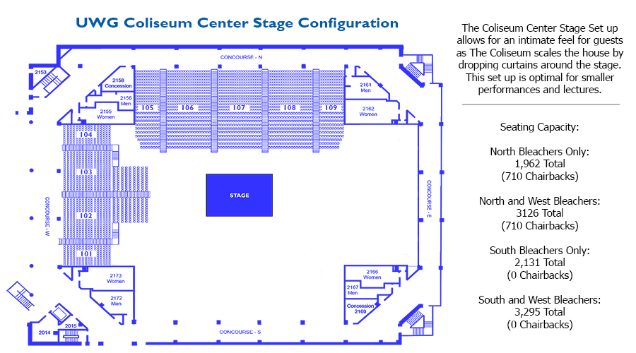 map of seating for preview day