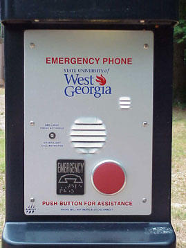 Close up of emergency phone